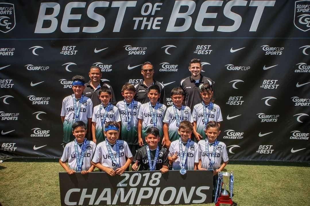 NV United 08B Green San Diego Surf Cup Champs